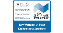 2011 ZertifikateAwards 3rd place: Capital Protection Certificates